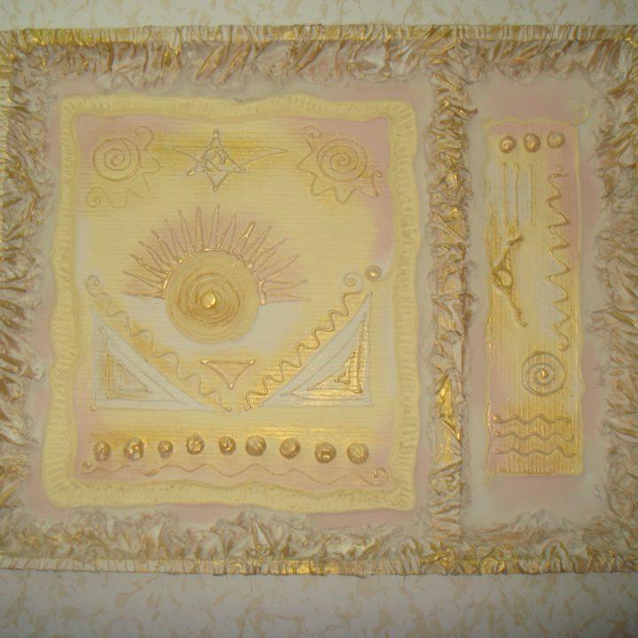 Картина из силикона и клея. Фото 1