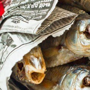 Букет из сушеной рыбы на 23 февраля
