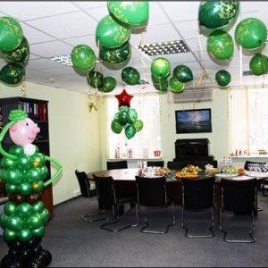 Оформление офиса для корпоратива на 23 февраля