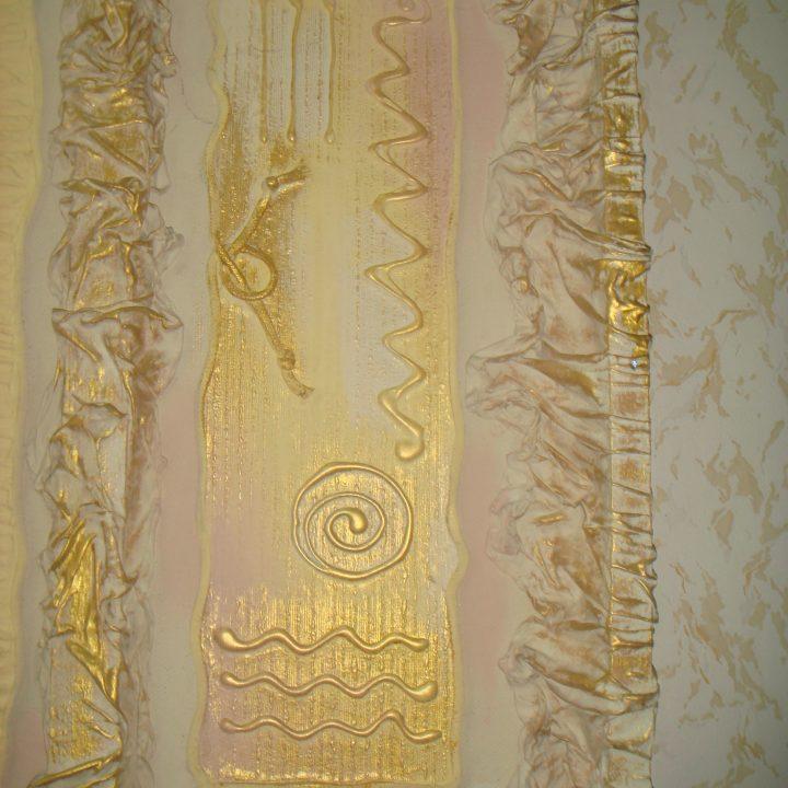Картина из ткани и силикона. Фото 3