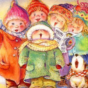 Дети дарят Рождественские величальные песни