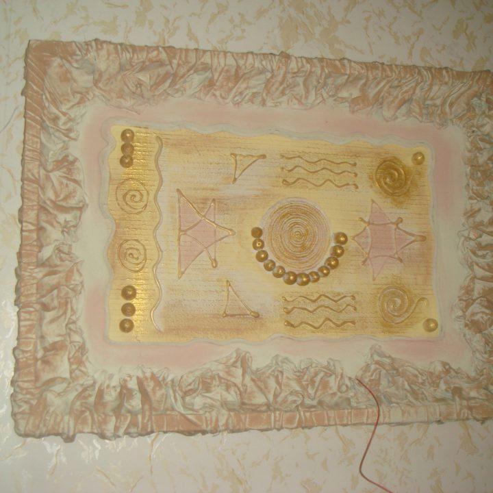 Картина из ткани и силикона. Фото 5