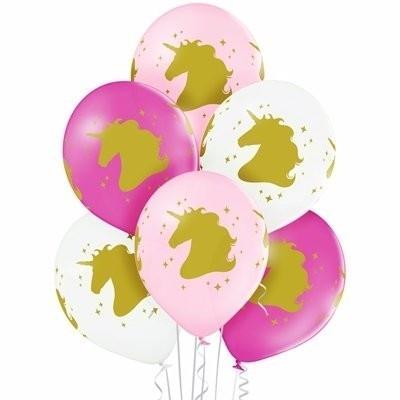 Букет из шариков розового и белого цвета
