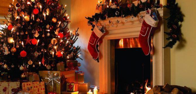 Украшение помещения на Новый год