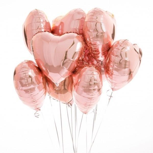 Букет из розовых фольгированных шаров