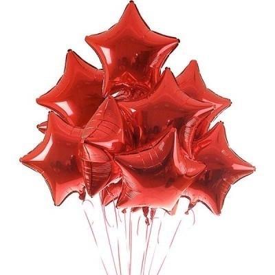 Букет из красных фольгированных шаров