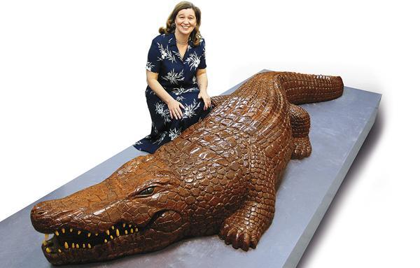 Ирина Эльдарханова и шоколадный крокодил