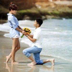 Признание  любви на берегу моря