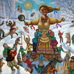 Чучело Зимы - празднование  Масленицы