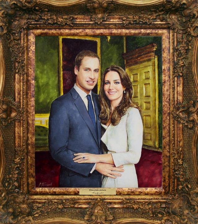Шоколадный портрет принца Уильяма