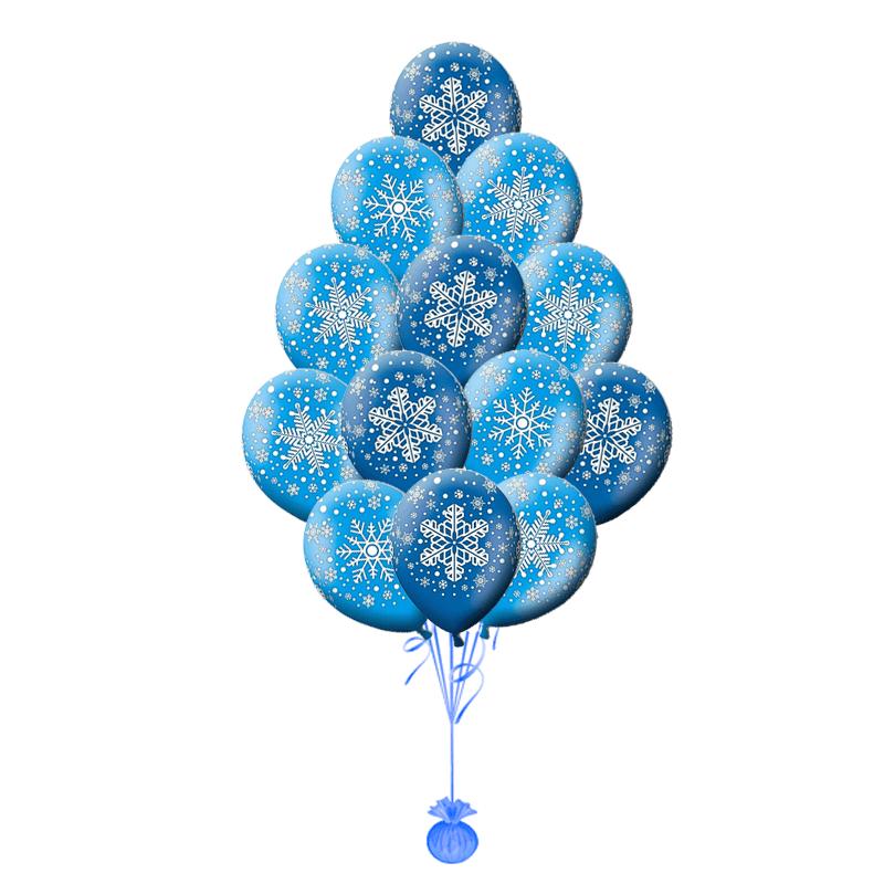 Фонтан из шариков Снежинка