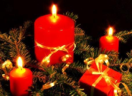 Новогоднее украшение из веток хвои